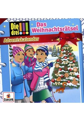 Musik - CD Adventskalender - Das Weihnachtsrätsel / Die drei !!!, (2 CD) kaufen