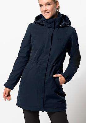 Blauer Wintermantel für Damen