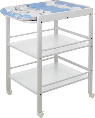 weißer Wickeltisch mit Wickelauflage