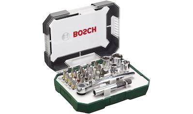 BOSCH Schrauber Bit - Set , 26 - tlg. mit Ratsche und Winkelschrauber kaufen