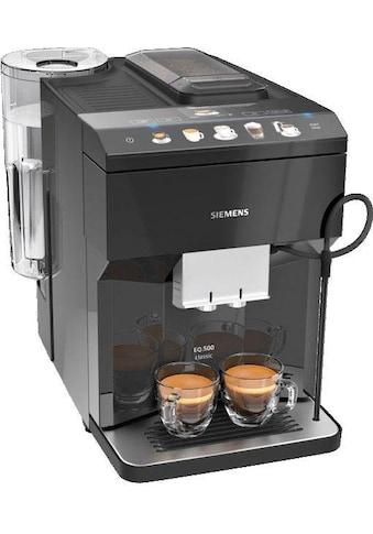 SIEMENS Kaffeevollautomat »EQ.500 classic TP503D09«, automatisches Reinigungssystem, zwei Tassen gleichzeitig, flexible Milchlösung, inkl. BRITA Wasserfilter kaufen