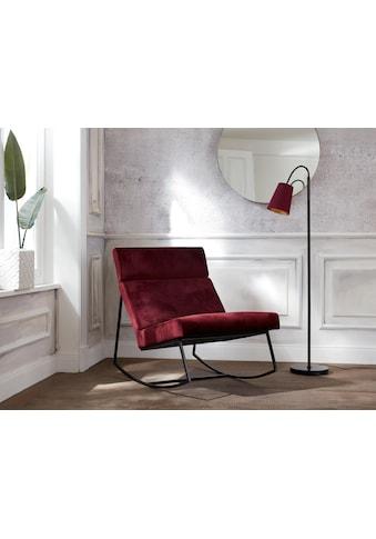 Guido Maria Kretschmer Home&Living Schaukelstuhl »Soel«, mit modernen Metallgestell... kaufen