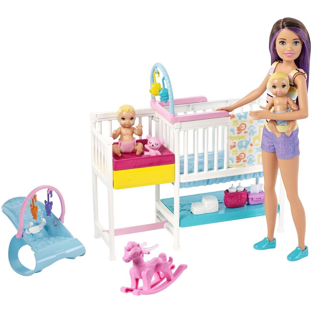Barbie Anziehpuppe »Skipper Babysitters Kinderzimmer-Spielset«, inklusive Puppen