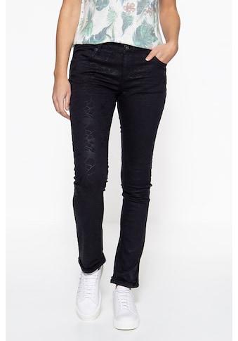 ATT Jeans Slim-fit-Jeans »Belinda«, mit Glanzaufdruck kaufen
