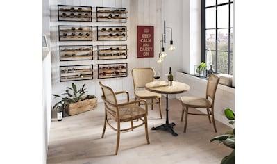 SIT Esszimmerstuhl, mit Wiener Geflecht, Armlehnstuhl in geschwungener Form kaufen