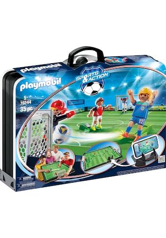 """Playmobil® Konstruktions - Spielset """"Große Fußballarena zum Mitnehmen (70244), Sports & Action"""", Kunststoff kaufen"""