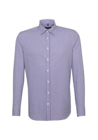 seidensticker Businesshemd »Shaped«, Shaped Langarm Covered-Button-Down-Kragen Karo kaufen