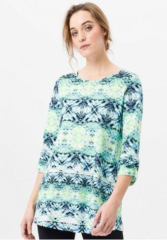 Green Cotton 3/4-Arm-Shirt »Longshirt«, Raffung kaufen