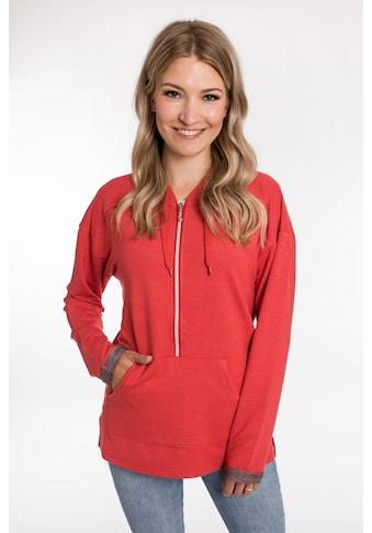 DEPROC Active Kapuzensweatshirt »ENTIAKO NEW Women«, mit außergewöhnlicher Materialstruktur kaufen