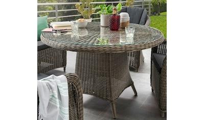 DESTINY Gartentisch »LUNA «, Polyrattan, Ø 120 cm kaufen