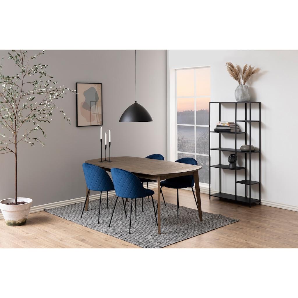 andas Esszimmerstuhl »Lena«, 2er Set, mit schlanken Metallbeinen und einer schönen edlen Polsterung, Sitzhöhe 48 cm
