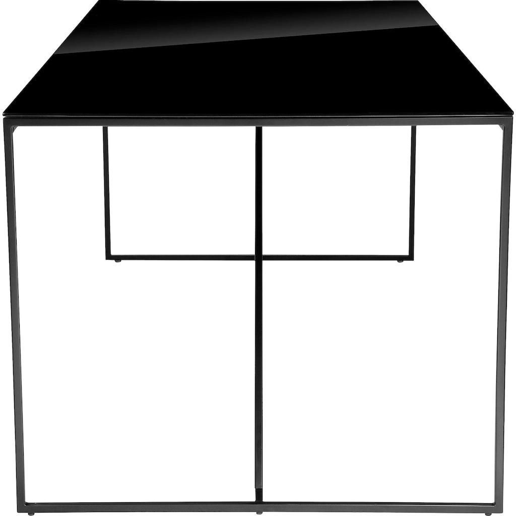 INOSIGN Esstisch »Esra«, Gestell aus Metall, Tischplatte aus Glas