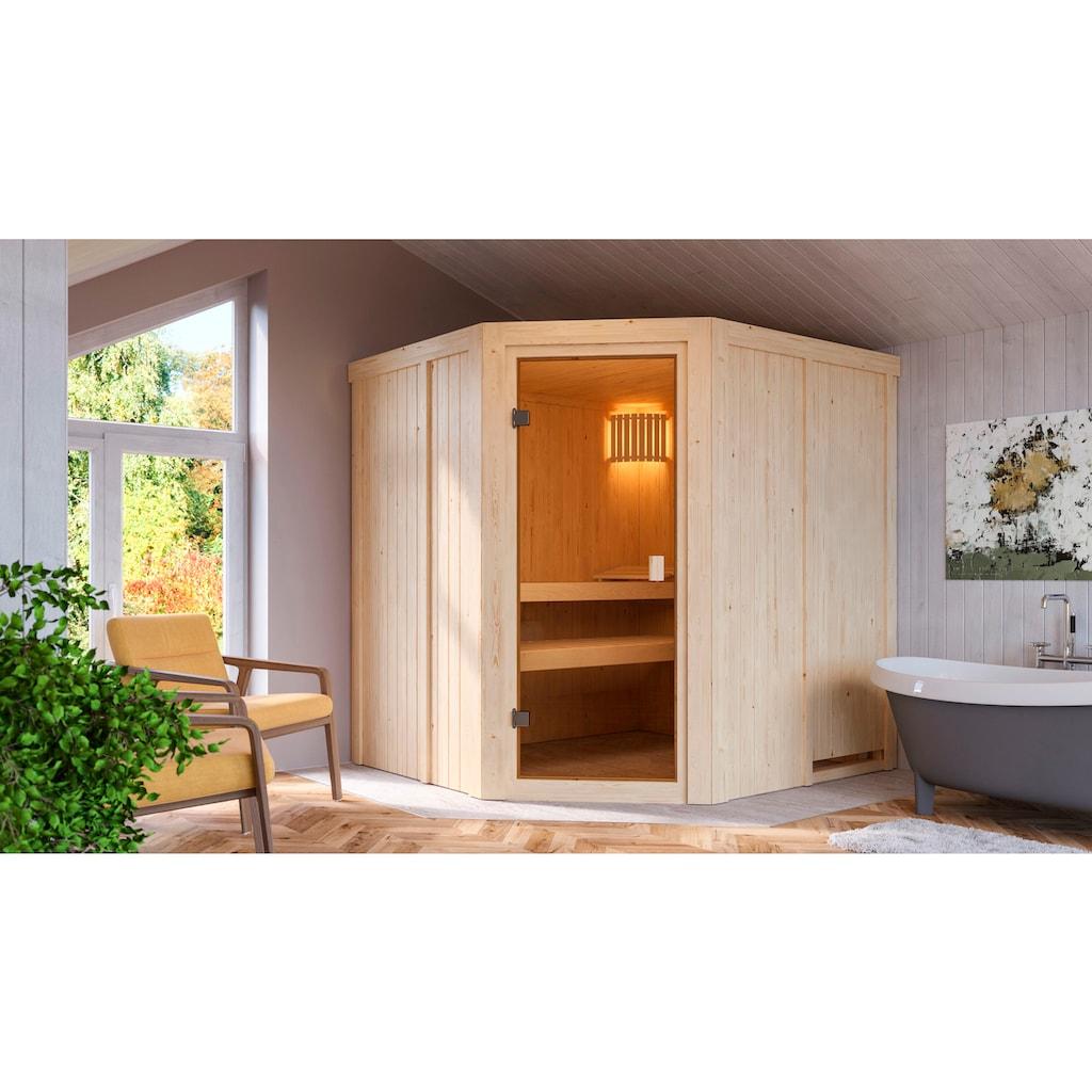 Karibu Sauna »Hilda«, 4,5-kW-Ofen mit int. Steuerung