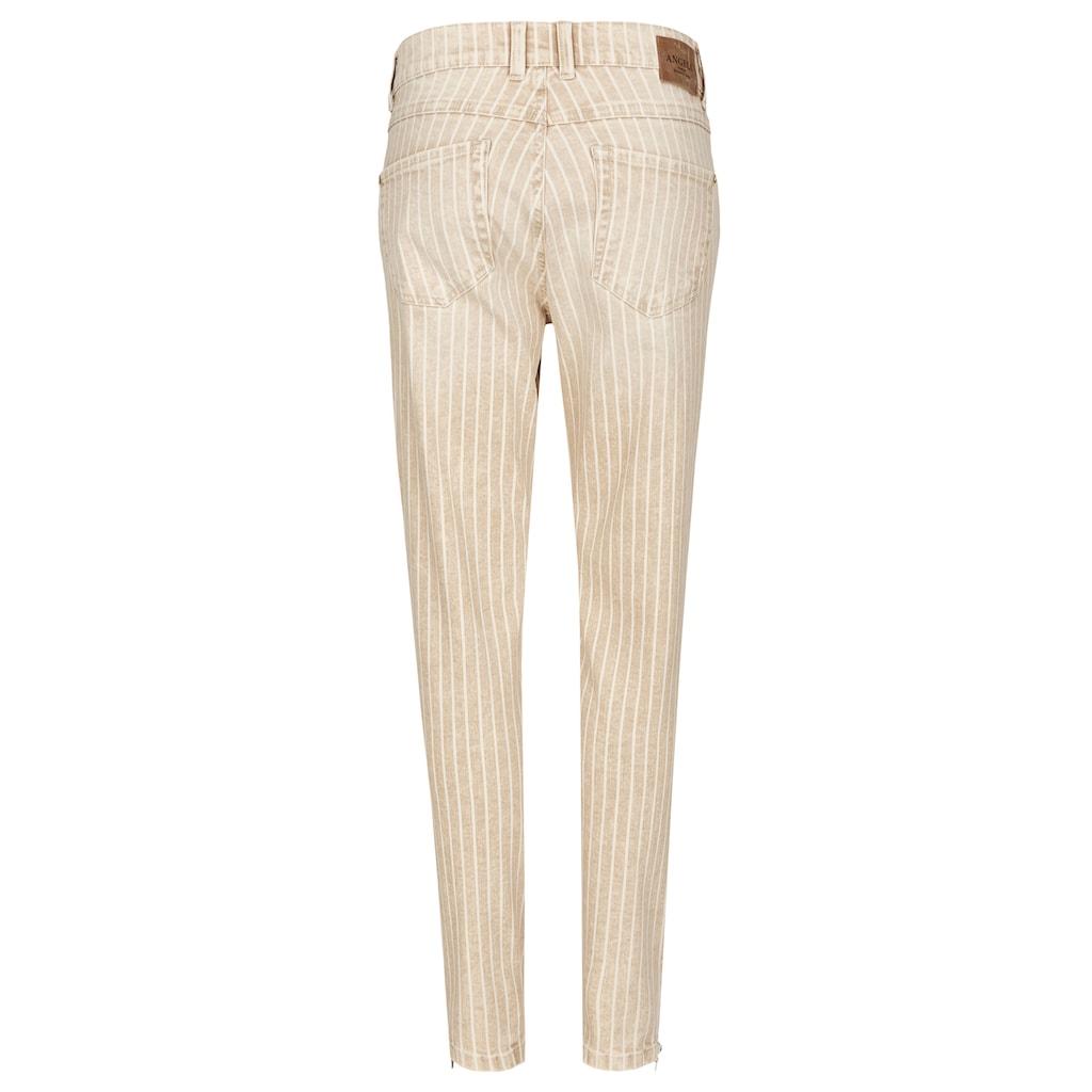 ANGELS Jeans,Skinny Ankle Zip' in gestreiftem Design