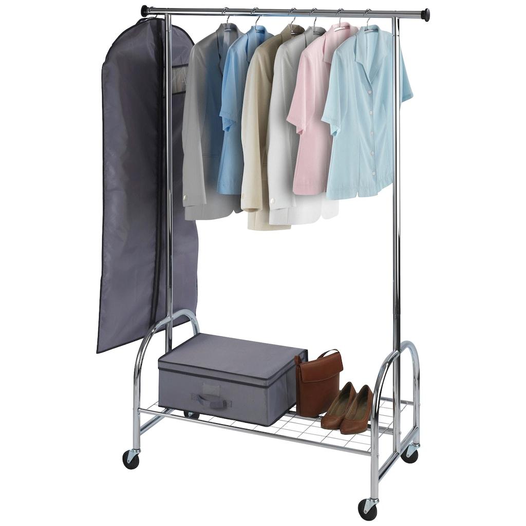 WENKO Garderobenständer »Kleiderständer Profi verchromt«, mit großer Gitternetz-Schuhablage