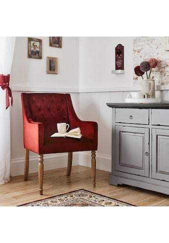 Home affaire 4-Fußstuhl »Tide«, mit schöner Polsterung und massiven Birkenholzbeinen kaufen