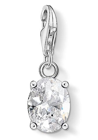 THOMAS SABO Charm-Einhänger »Weißer Stein oval, 1847-051-14«, mit Zirkonia kaufen