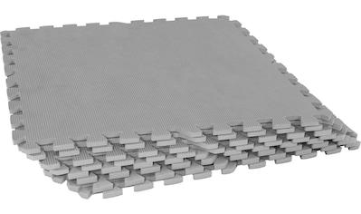 GORILLA SPORTS Bodenschutzmatte »Schutzmattenset mit acht Teilen Grau«, Flexibel... kaufen