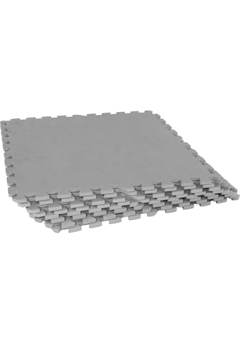 GORILLA SPORTS Bodenschutzmatte »Schutzmattenset mit acht Teilen Grau« (Set, 8 tlg.) kaufen