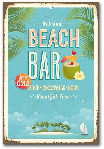 Home affaire Metallbild »Beach Bar«, Maße (B/H): ca. 30/45 cm kaufen