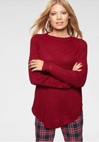 Aniston CASUAL Rundhalspullover, mit Rippstrick an den Seitennähten kaufen