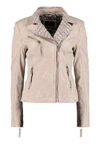 DNR Jackets Damen Lederjacke mit Strickelementen und Kontrastverarbeitung kaufen
