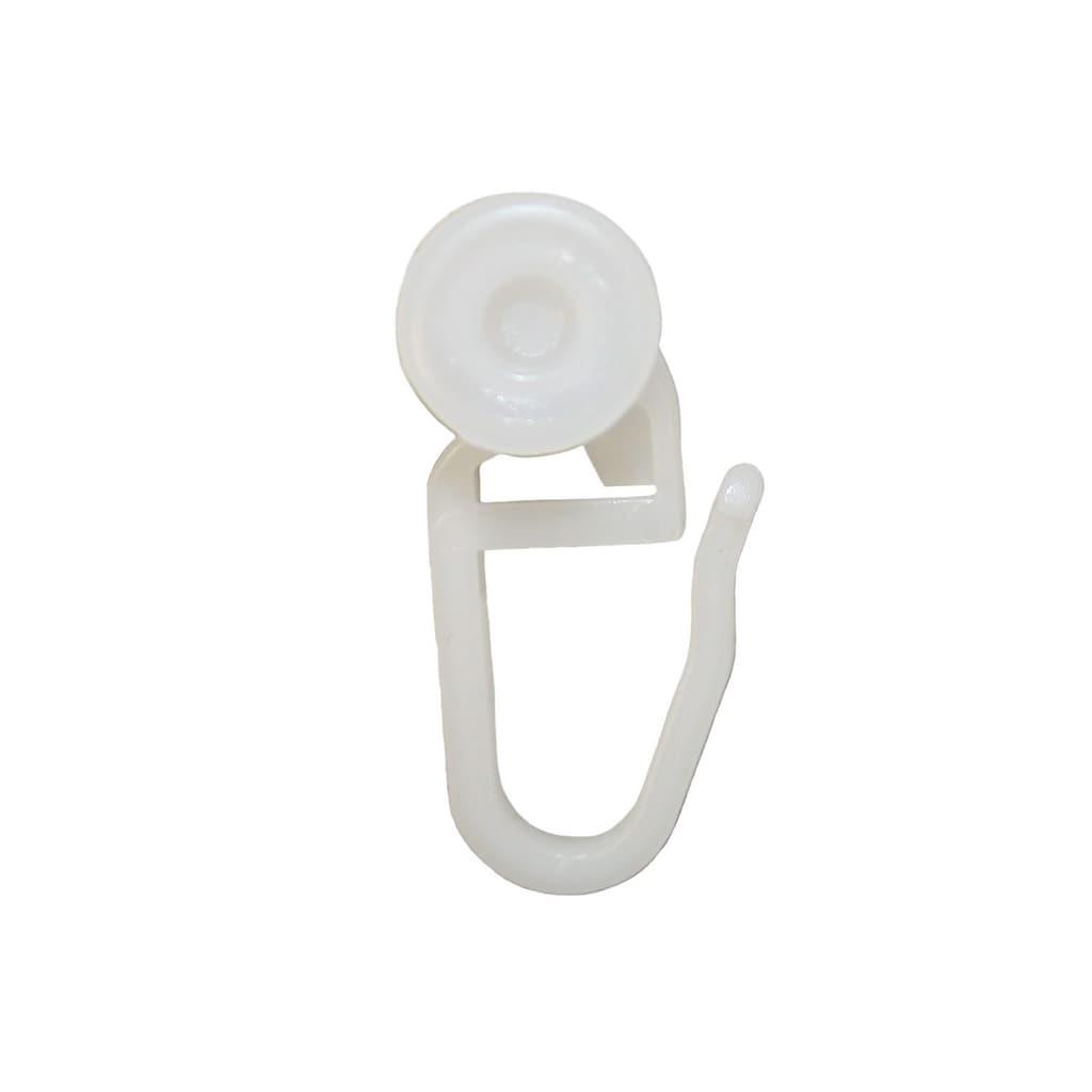 GARESA Gardinenröllchen, (Packung, 100 St., mit Faltenhaken), Ø 8 mm, für Gardinenleisten