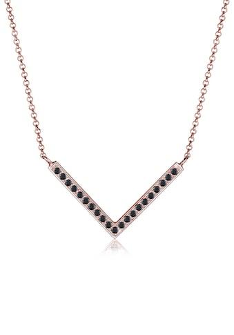 Elli Collierkettchen »V-Kette Kristalle 925 Silber« kaufen