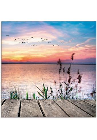 Artland Glasbild »Der See in den Farben der Wolken«, Gewässer, (1 St.) kaufen
