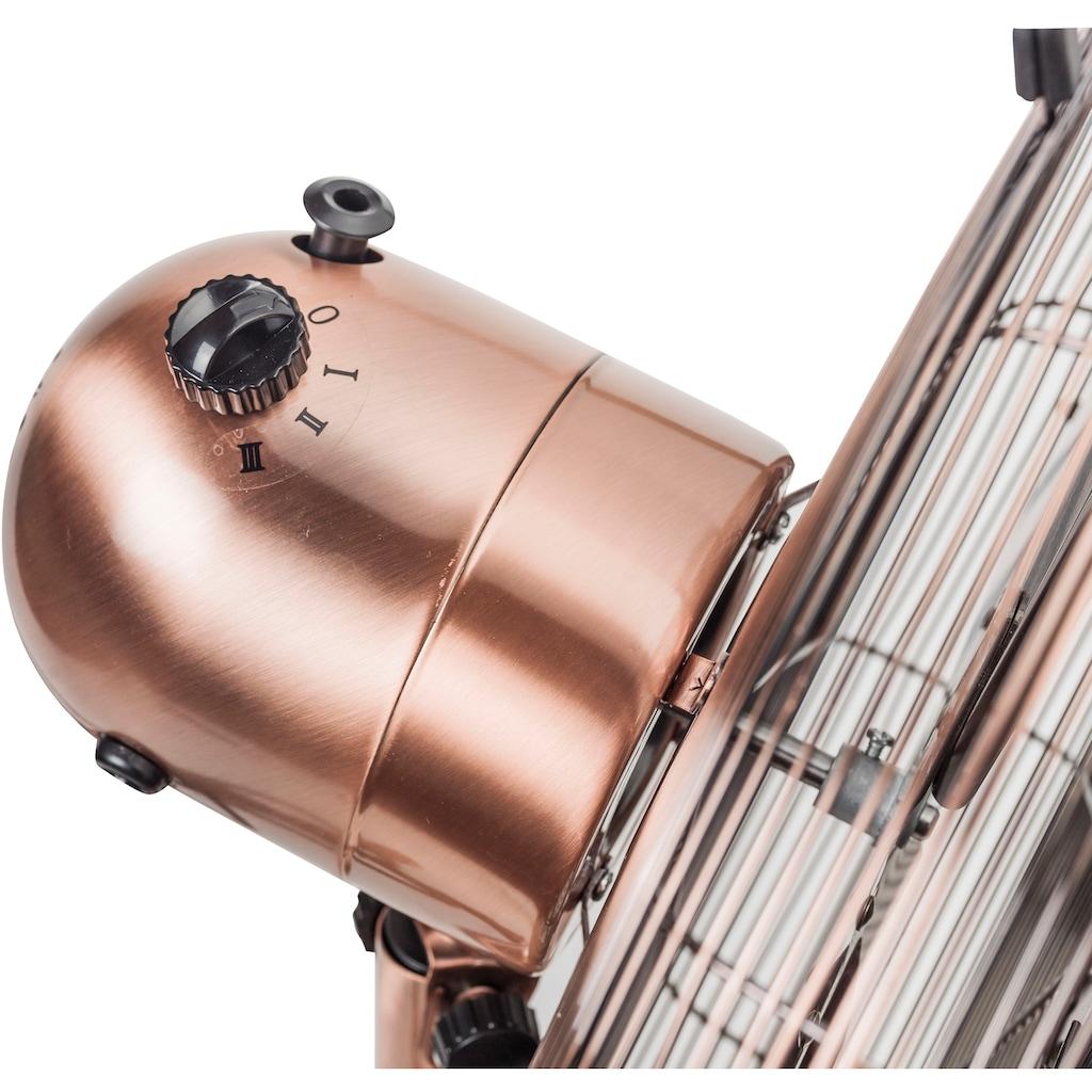 bestron Standventilator »DFS45SCO«, mit Schwenkfunktion im Retro-Design, Höhe: 127 cm, Ø 45 cm, 50 W, Kupfer
