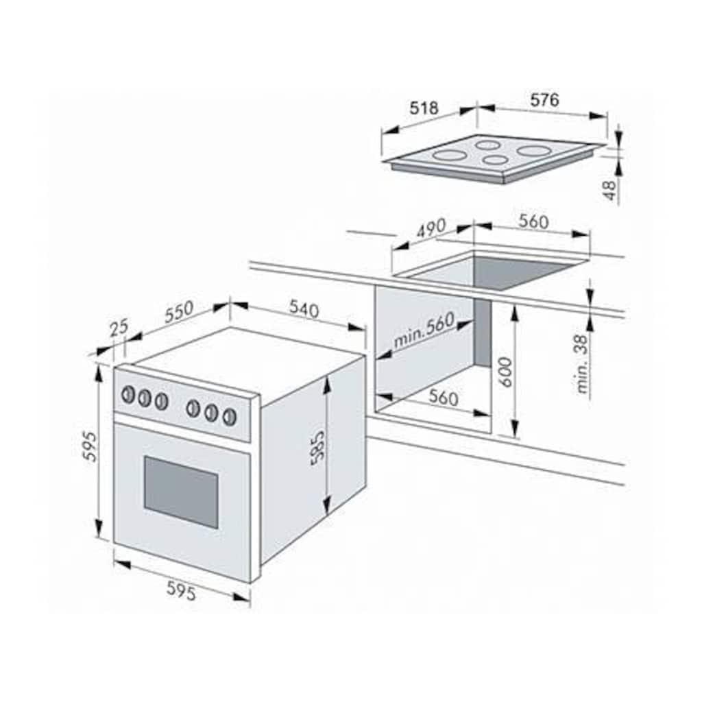 Amica Elektro-Herd-Set »EHC 12557«, EHC 12558 E, RapidWarmUp-Funktion