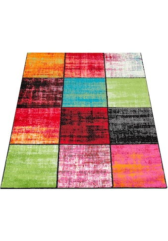 Paco Home Teppich »ECE 952«, rechteckig, 14 mm Höhe, Kurzflor, Karo Design, Wohnzimmer kaufen