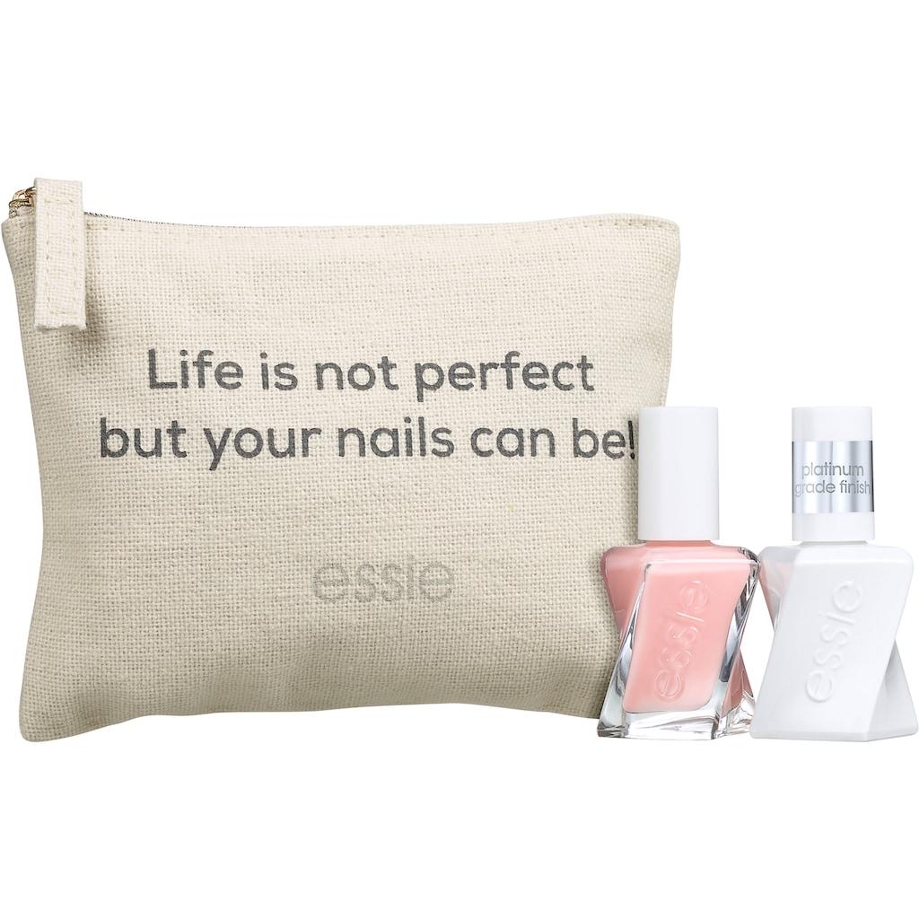 essie Nagellack-Set »Gel Couture Geschenkset Perfekte Maniküre«, (3 tlg.)