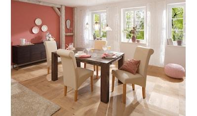 Home affaire Esstisch »Marianne«, aus massiver Wildeiche mit zusätzlich bestellbarer... kaufen