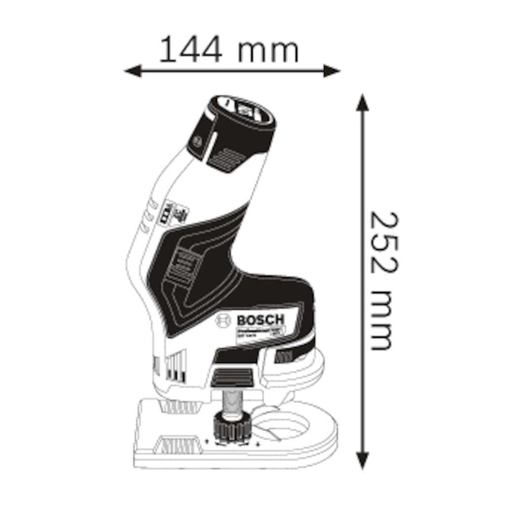 Bosch Professional Powertools Akku-Fräse »GKF 12V-8«, ohne Akku