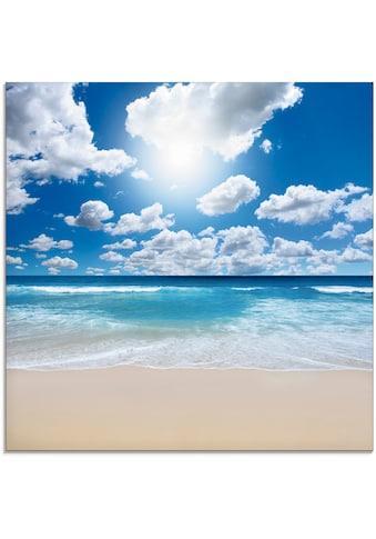 Artland Glasbild »Großartige Strandlandschaft«, Strand, (1 St.) kaufen
