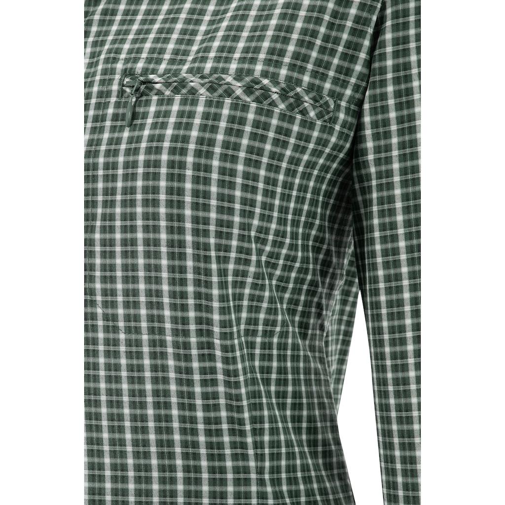Tom Collins Trachtenbluse, Damen, mit Krempelärmel und Reißverschlusstaschen