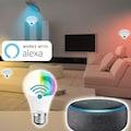 Hama Smarte LED-Leuchte »10W, dimmbar, kein Hub nötig«, WLAN LED Lampe, gesteuert via Alexa/Google/App, E27, RGB