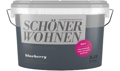 SCHÖNER WOHNEN-Kollektion Wand- und Deckenfarbe »Trendfarbe Blueberry, matt«, 2,5 l kaufen