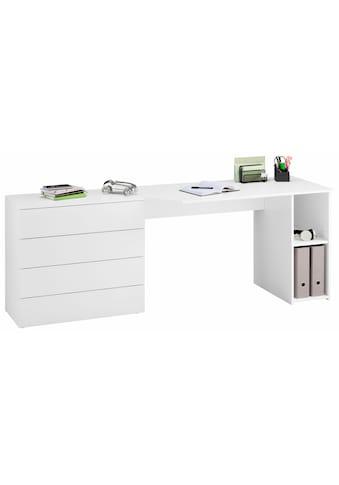 borchardt Möbel Schreibtisch »Wallis«, Breite 196 cm, Push to Open-Funktion kaufen