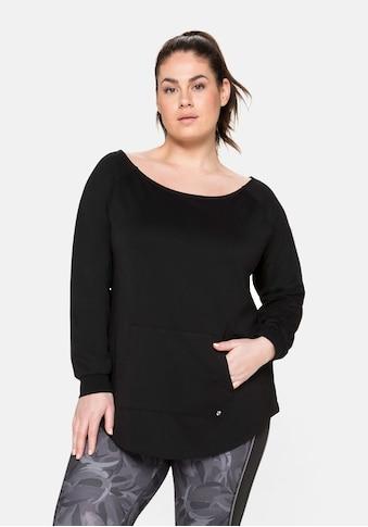 Sheego Sweatshirt, mit Kängurutasche, aus Funktionsmaterial kaufen