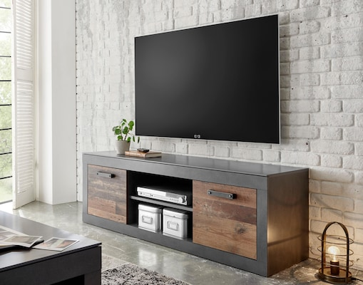 TV-Board in Grau-Braun