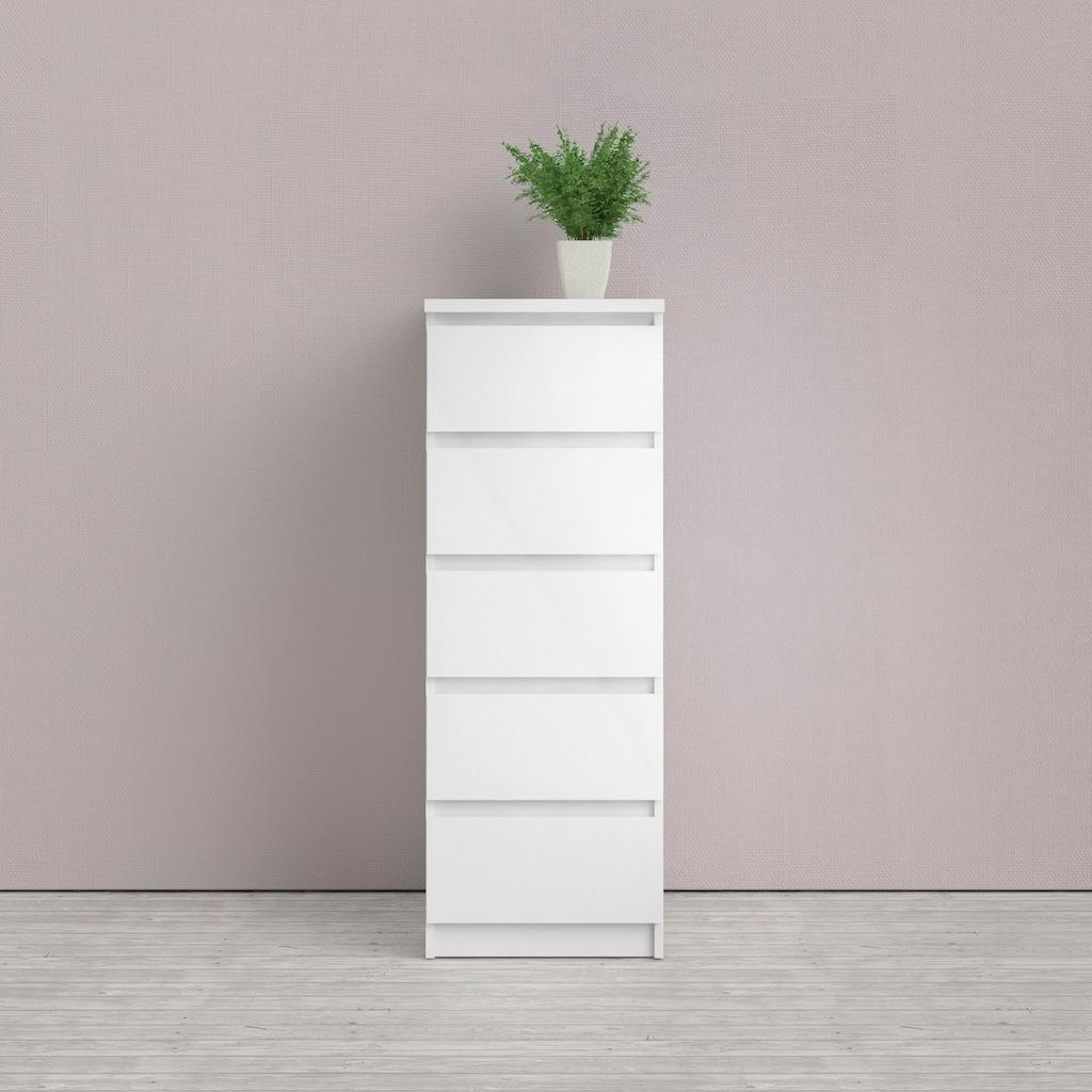 Home affaire Hochkommode »Naia«, Made in Denmark, mit abgerundeten Schubladenkanten, Schubladen auf Metallgleiter, Breite 40,4 cm