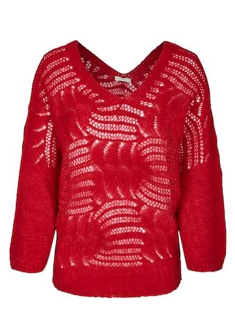 Heimatliebe Oversize Pullover im Häkellook kaufen