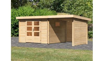WOODFeeling Gartenhaus »Trittau 3«, mit Anbaudach kaufen