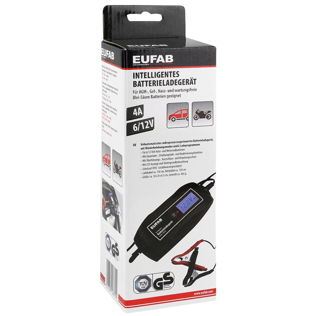 EUFAB Batterie-Ladegerät, 4000 mA, 6/12 V