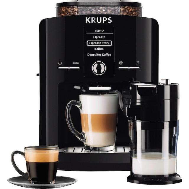 Krups Kaffeevollautomat EA8298 Latt´Espress, 1,8l Tank, Kegelmahlwerk