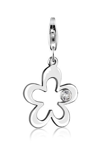 Nenalina Charm-Einhänger »Blumen-Anhänger Zirkonia Kristalle 925 Silber« kaufen