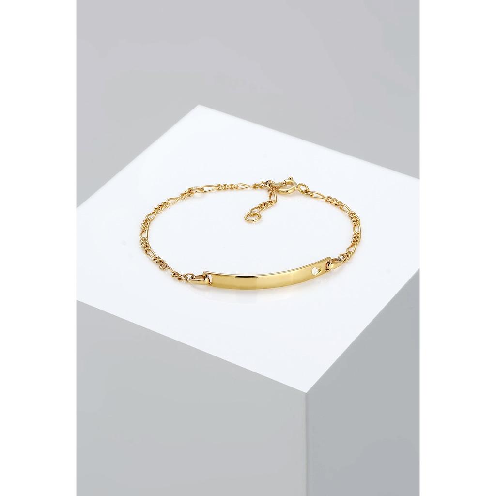 Elli Armband »Kinder Herz Geburt Namens-Band 925 Silber«