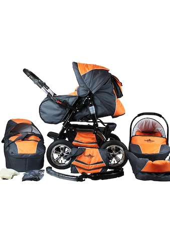 "bergsteiger Kombi - Kinderwagen ""Milano, orange & grey, 3in1"", (10 - tlg.) kaufen"
